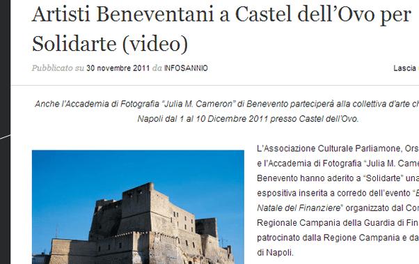 Mostra arte castel Ovo Napoli