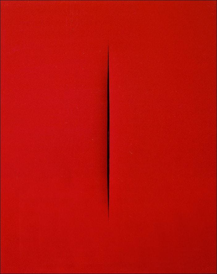 Lucio Fontana, L'attesa, 1965