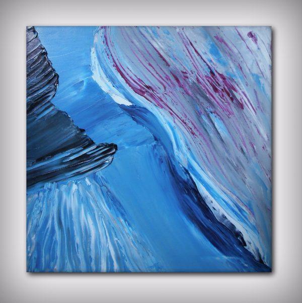Fiume in piena - olio su tela 03