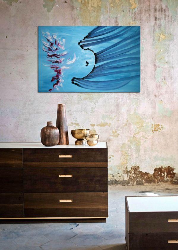 Ludico 60x40 opera astratta olio su tela in vendita