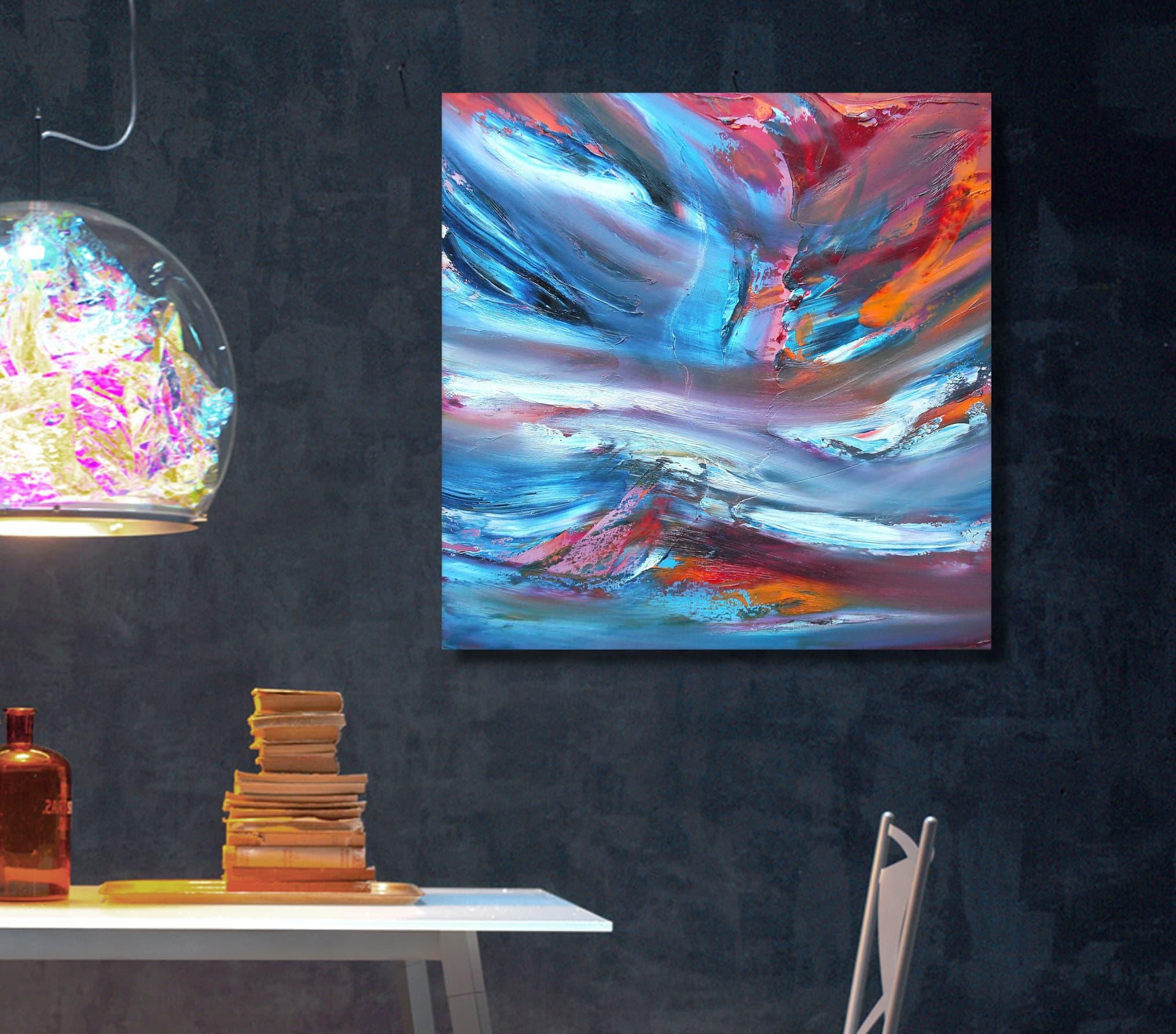 Kaos 50×50 cm quadro moderno astratto in vendita online