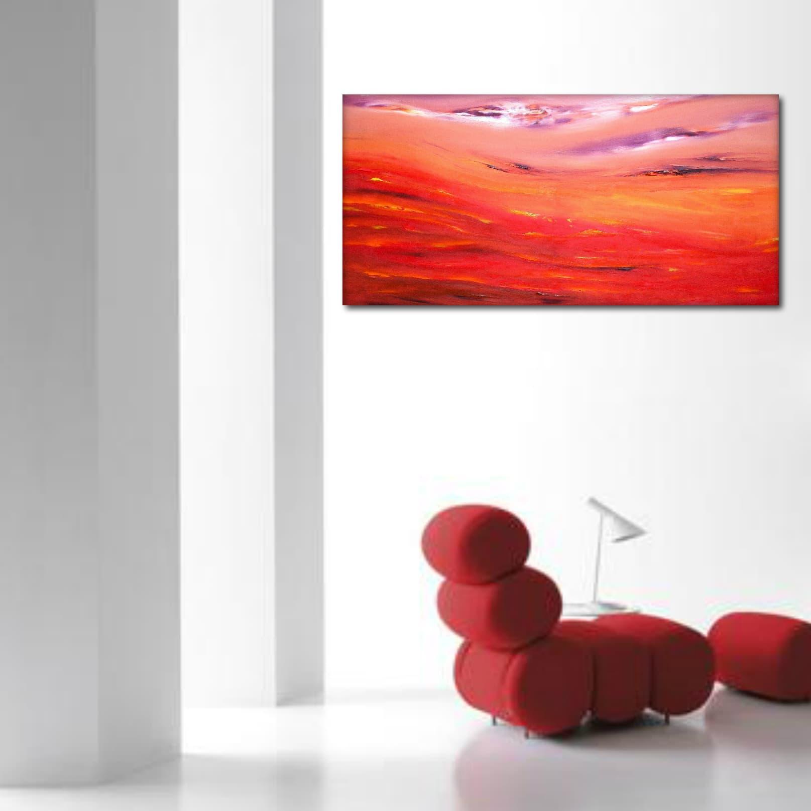 Raggi di luna 80×40 dipinto originale in vendita online