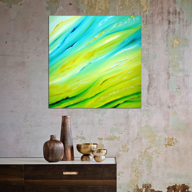 Soffuso 2013 olio su tela 50x50 dipinto originale astratto