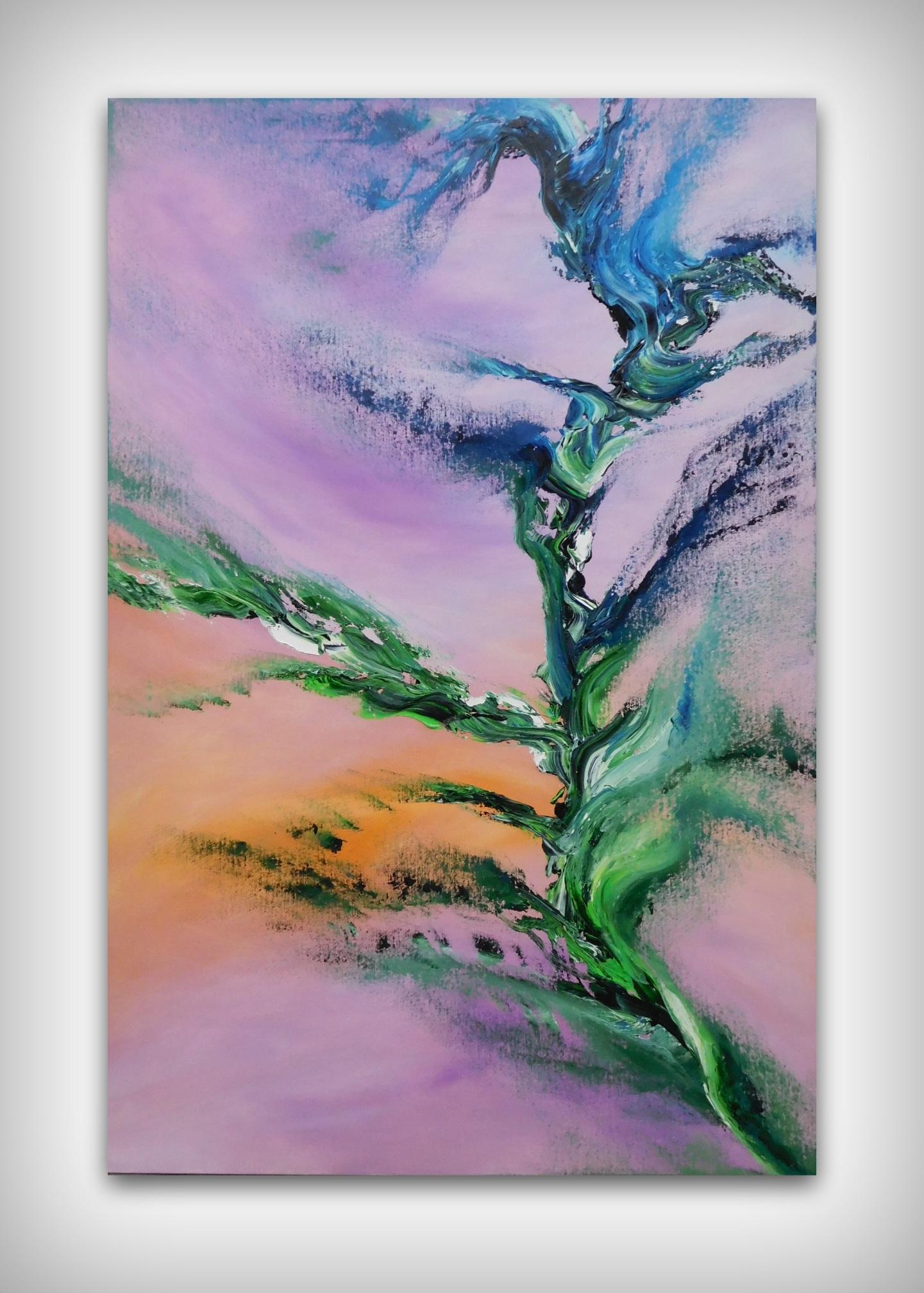 Tree of Truth dipinto originale contemporaneo