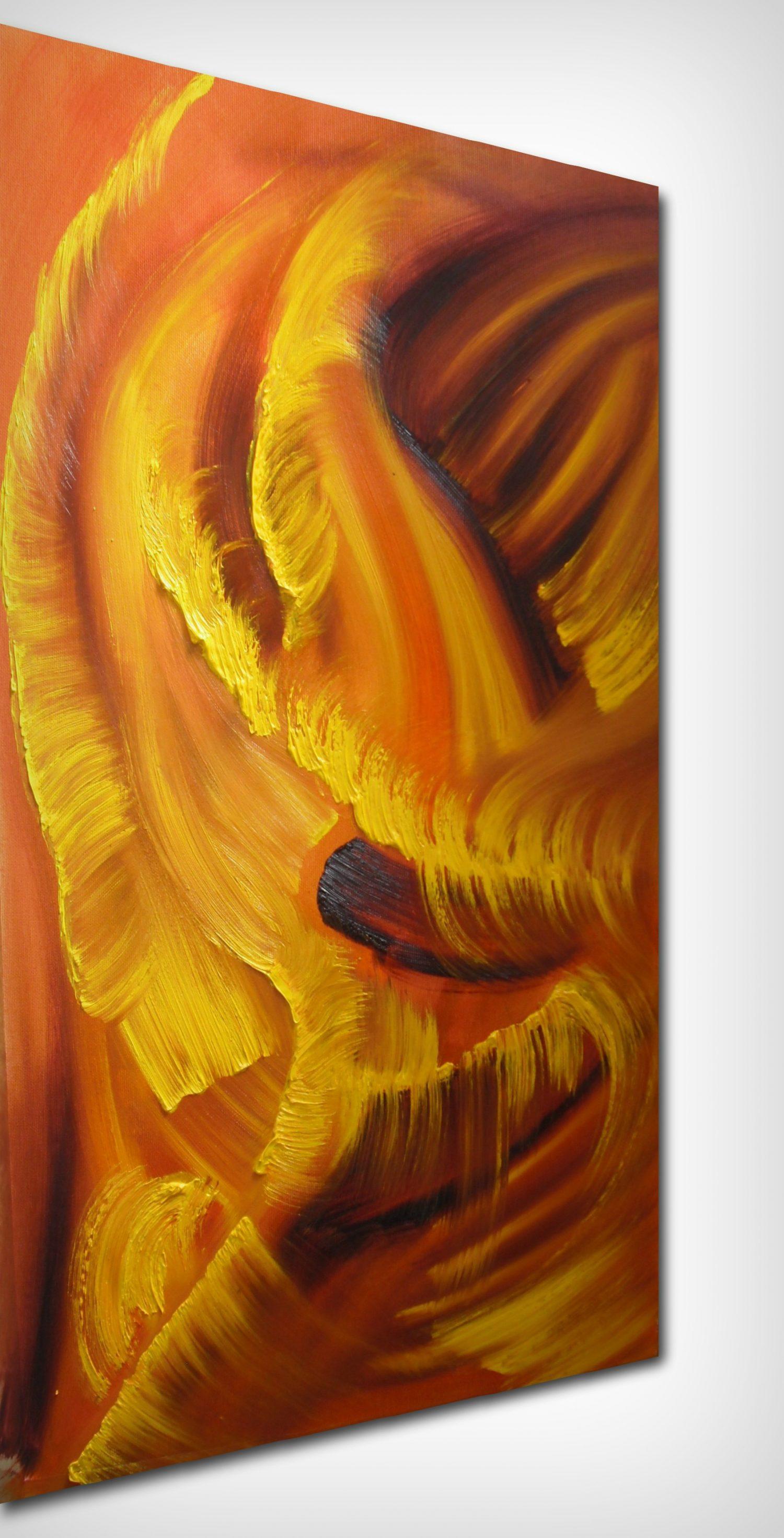 idyll in yellow _ olio su tela