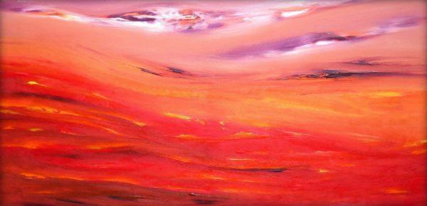 Raggi di luna 80x40 dipinto originale in vendita online