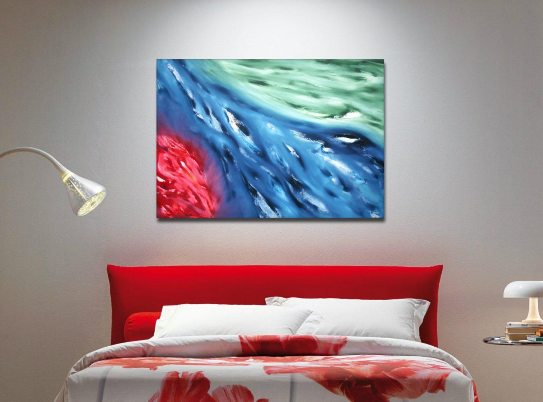 red spirit dipinto originale astratto