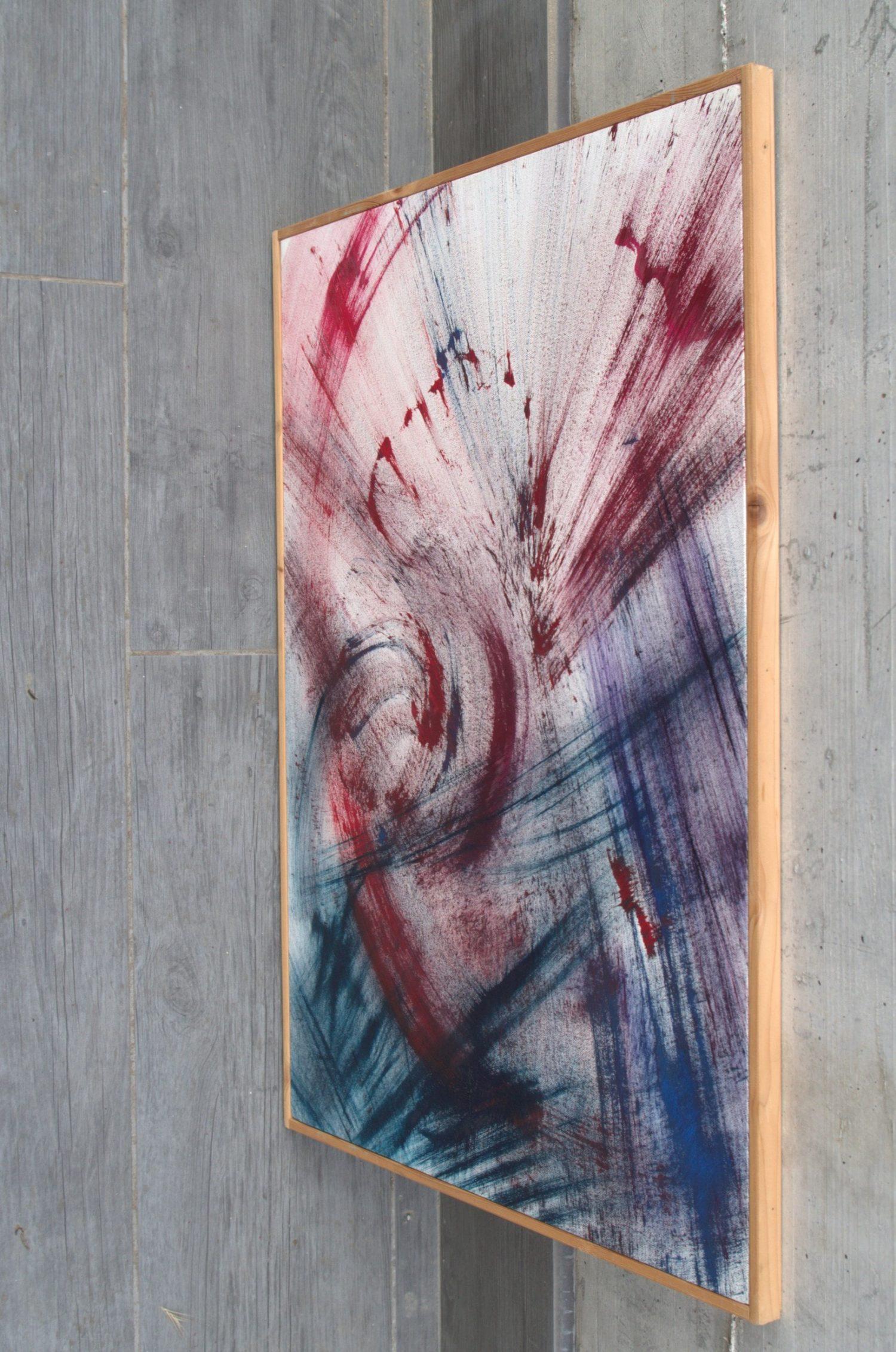 sangue che danza quadro olio su tela dipinto originale astratto in vendita online