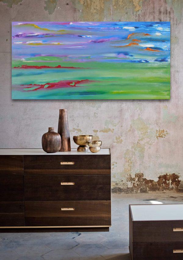 sguardo silente dipinto moderno