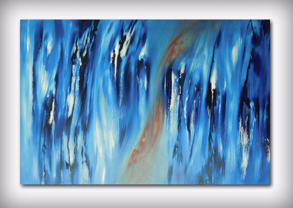 Again lost in blue, quadro astratto
