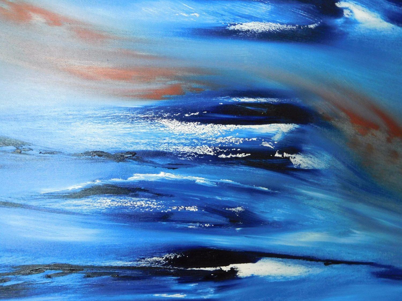 Again lost in blue, quadro astratto