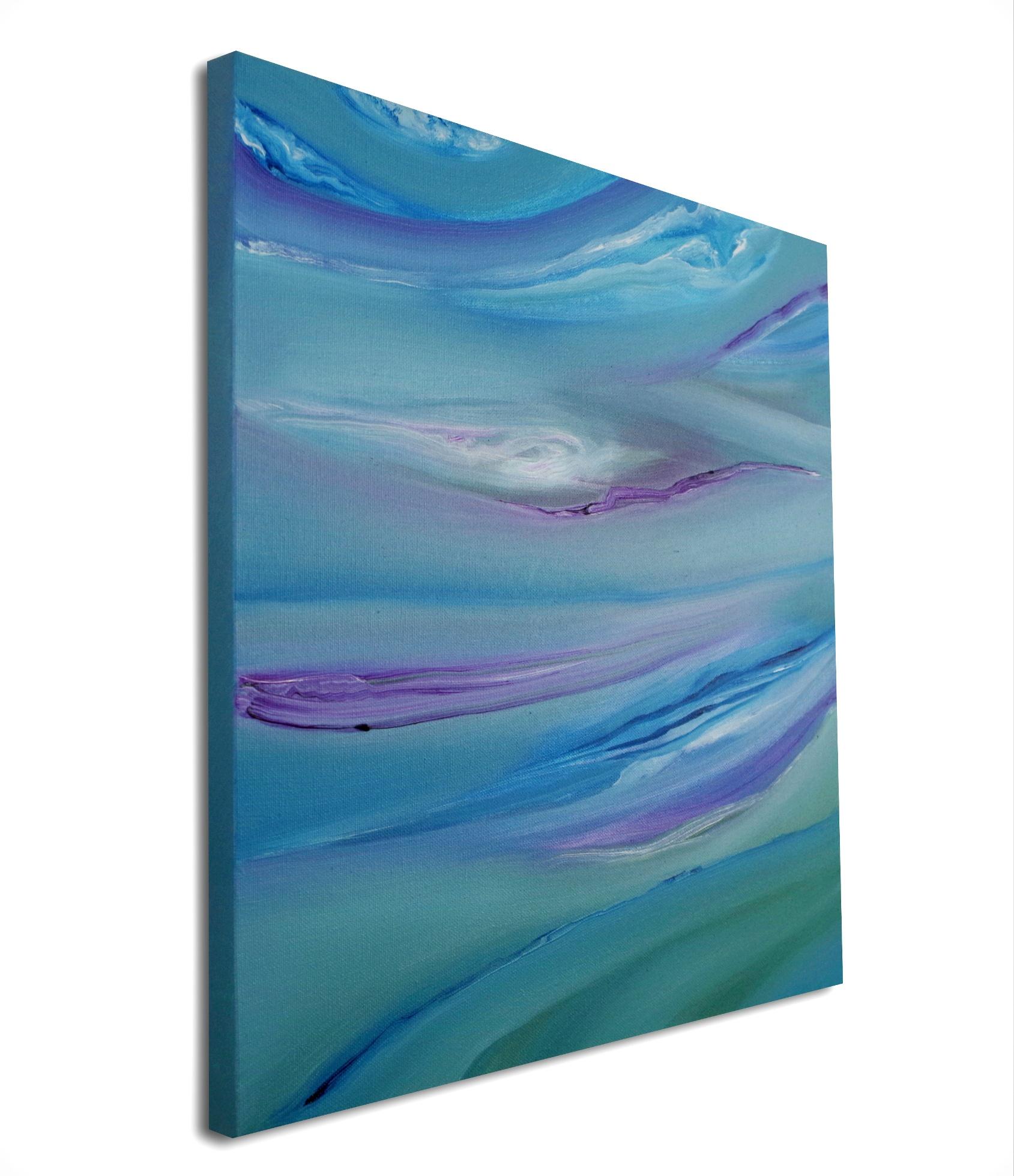Bright II, 1 40×40 2017 olio dipinto moderno astratto