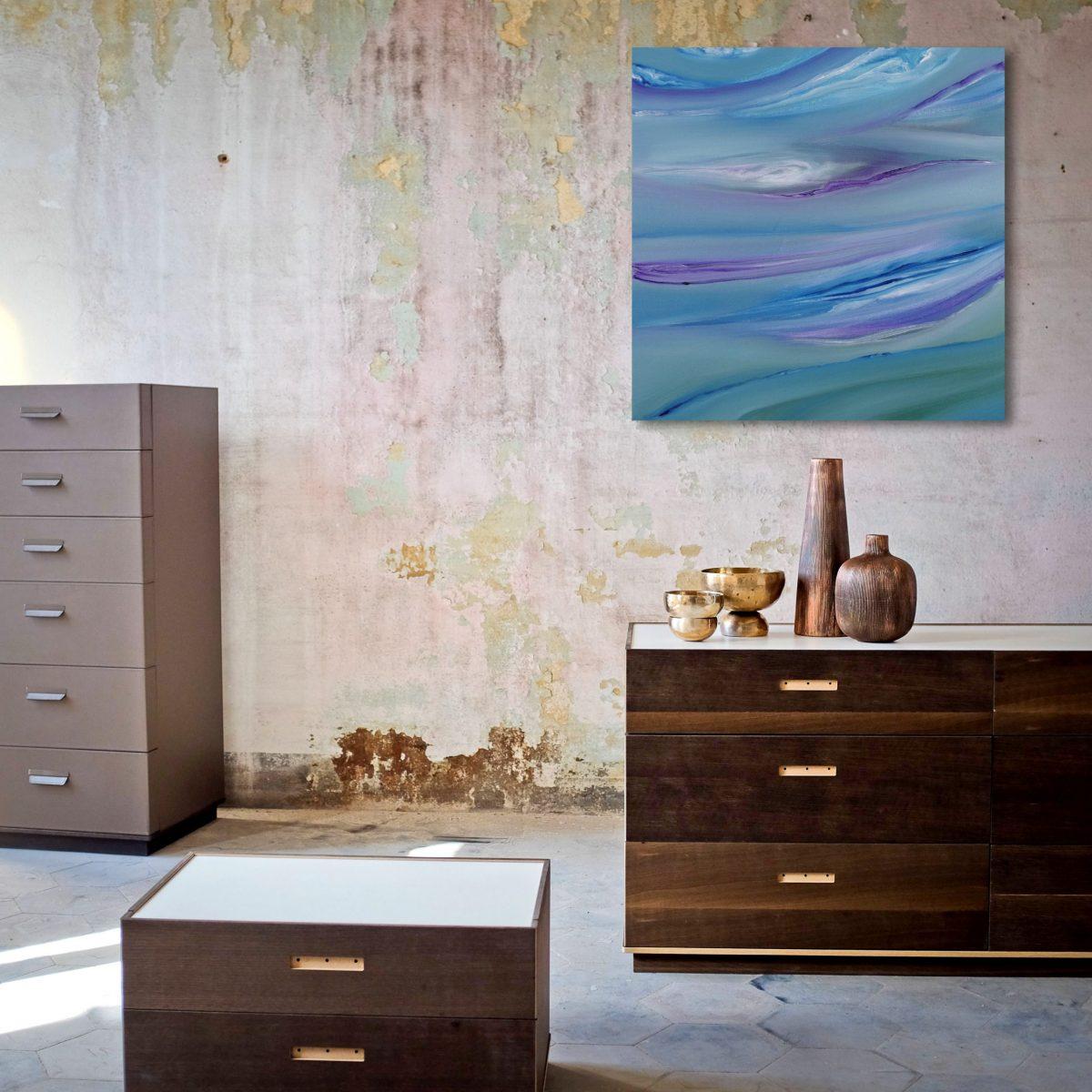 Bright II, 1 40x40 2017 olio dipinto moderno astratto
