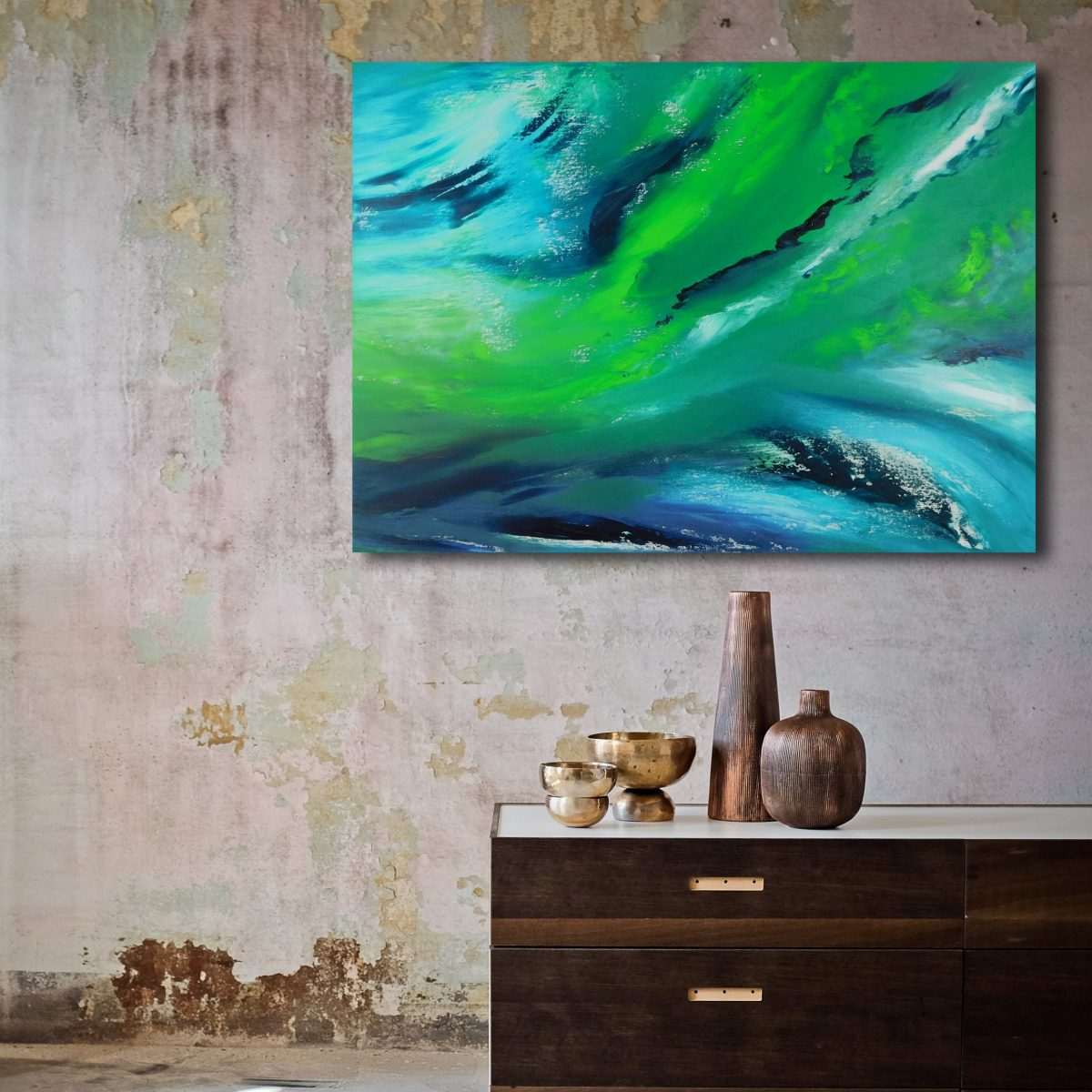 vColl night II - 70x50 - 2017 - olio II_dipinto moderno astratto