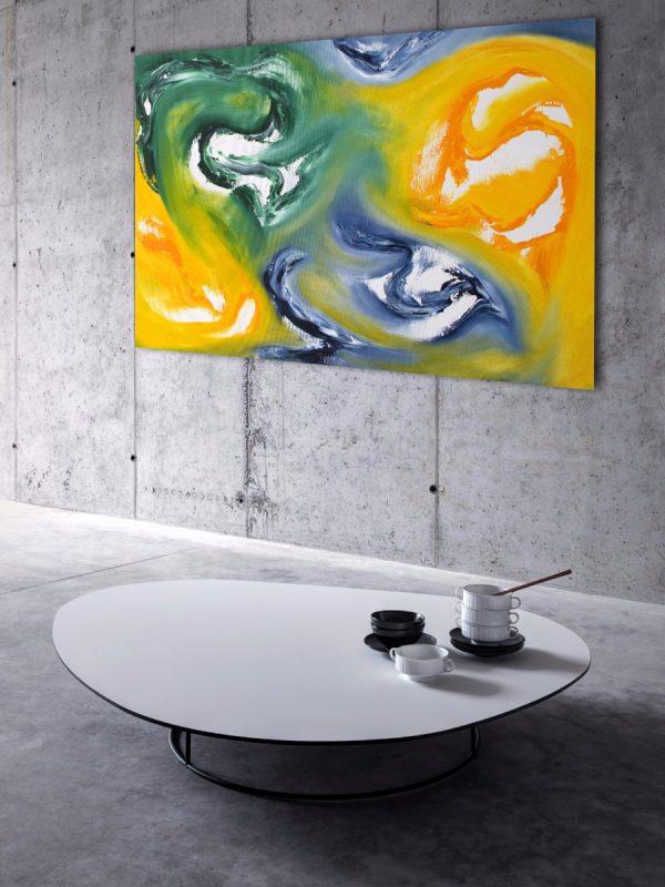 Fugace nuvola II quadro dipinto originale astratto