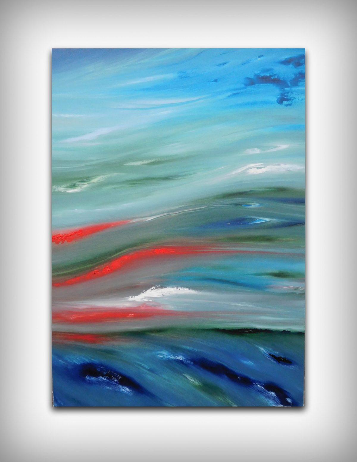 Glow sea dipinto moderno astratto