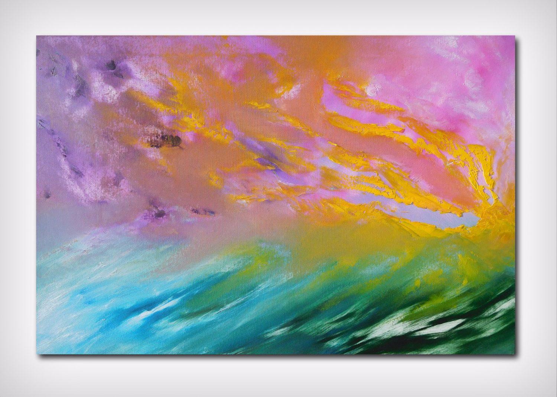 Le vie en rose 01 2016 90x60 olio dipinto moderno astratto