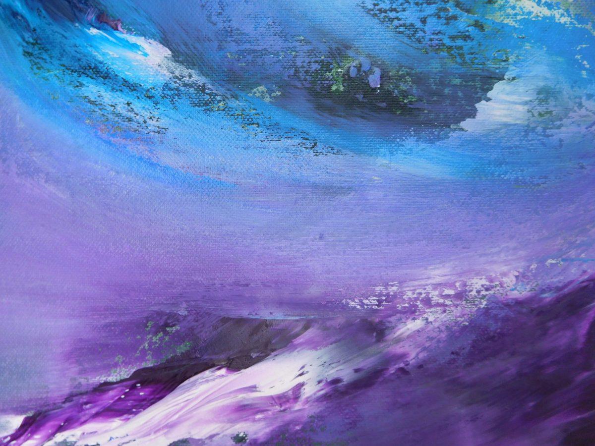 Purple emotion 2017 70x50 olio dipinto moderno astratto
