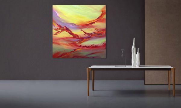 Revolving time quadro dipinto originale astratto