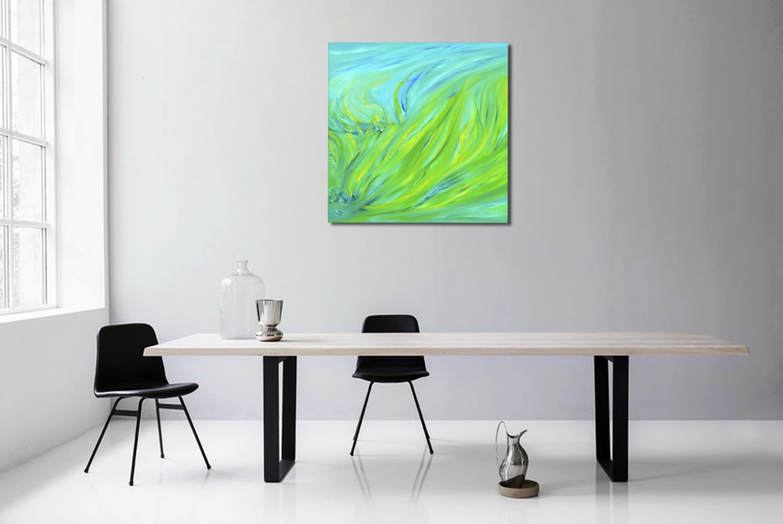 Spring green dipinto originale astratto