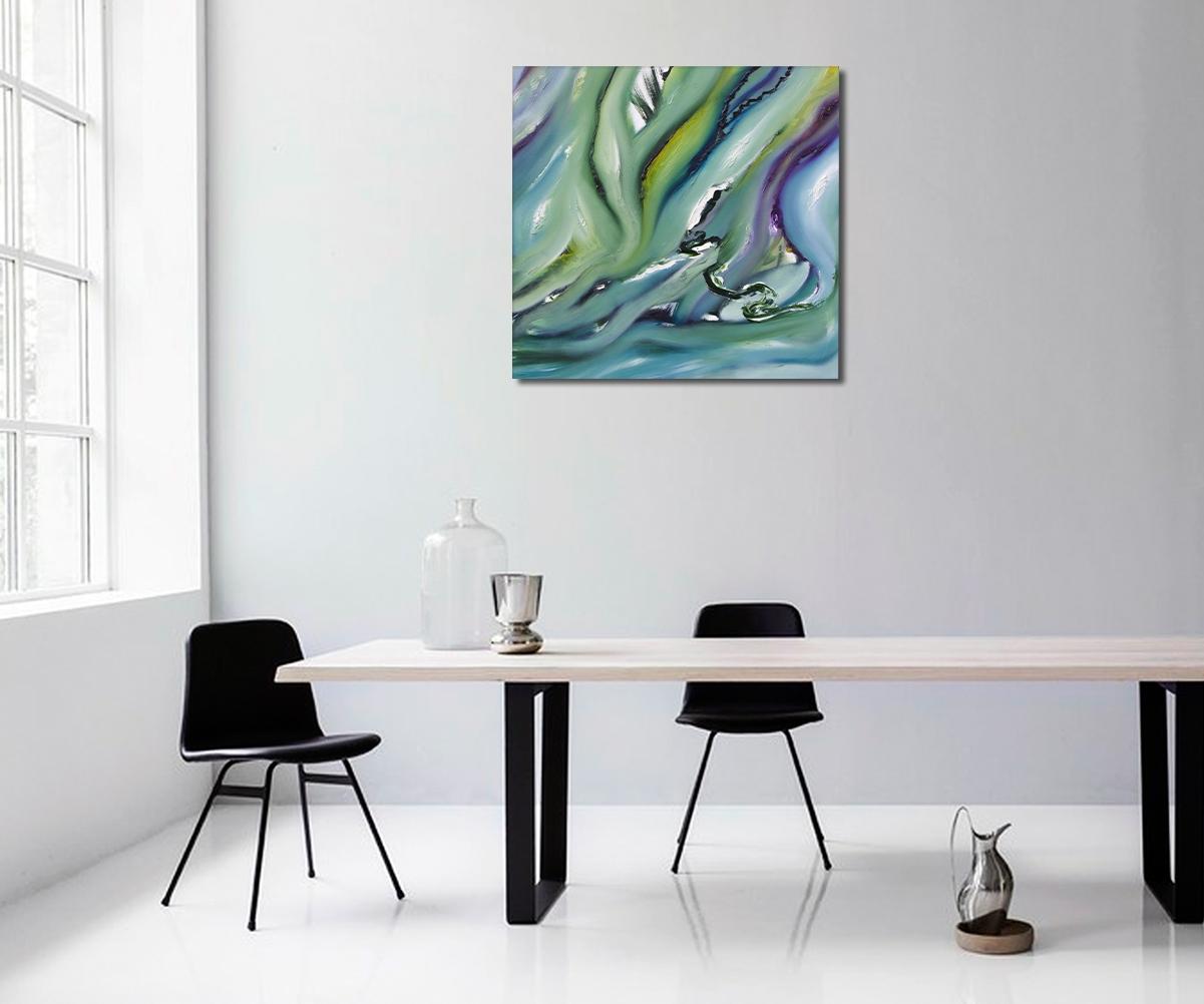 Dipinto astratto moderno, paradiso artificiale