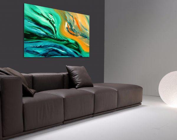 Life's flux quadro dipinto originale astratto