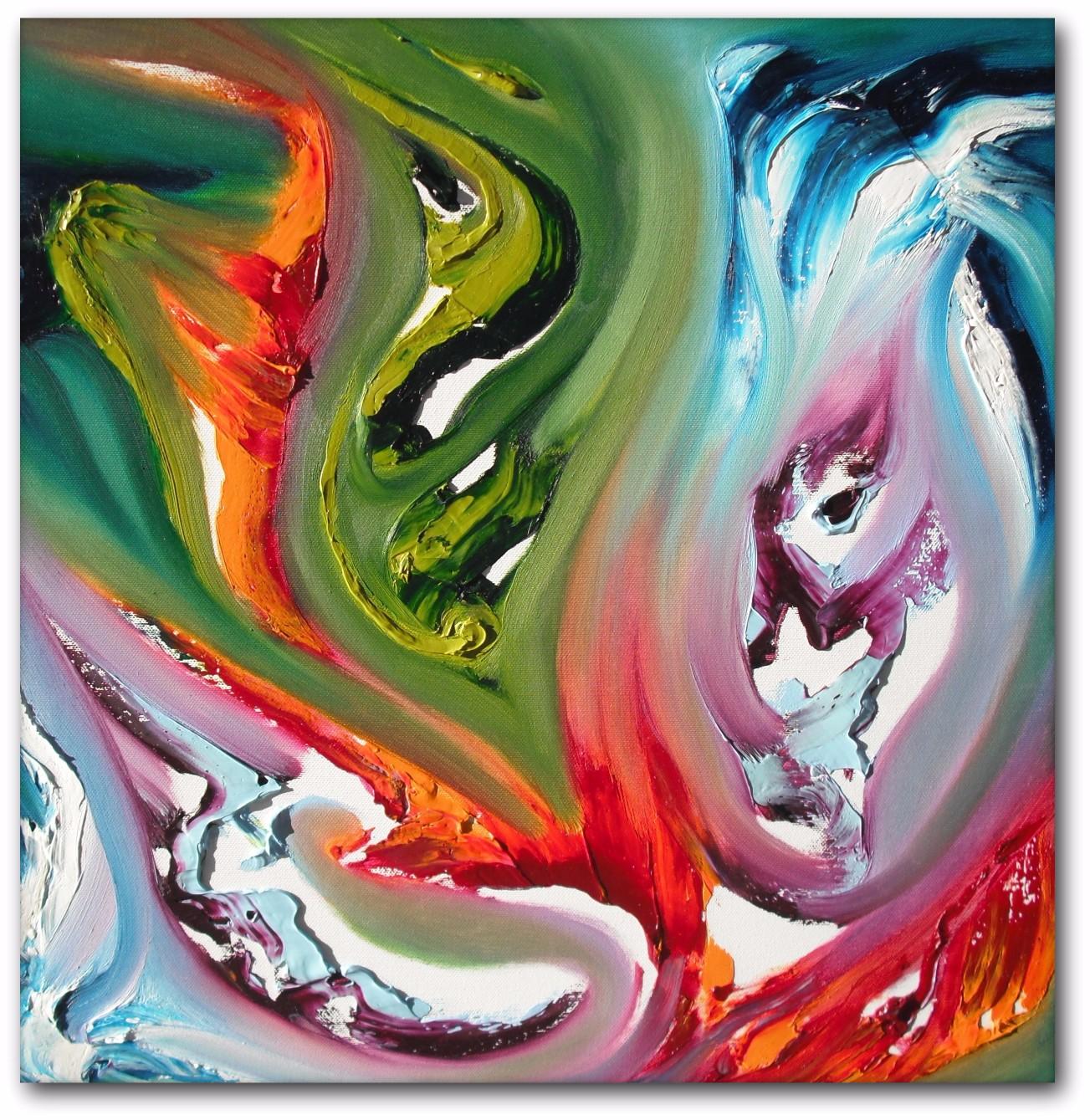 Moods triptych dipinto astratto moderno in vendita