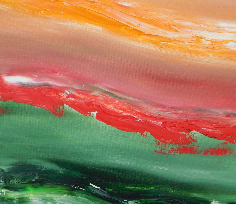 Red cut 70x60 2016 olio su tela quadro dipinto moderno originale astratto