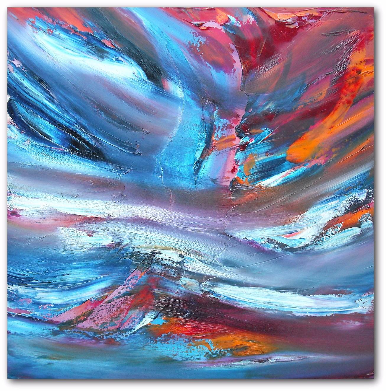 Sky transition quadriptych dipinto astratto moderno in vendita
