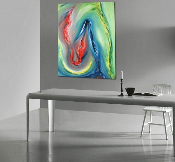 Indomitus quadro dipinto moderno originale astratto
