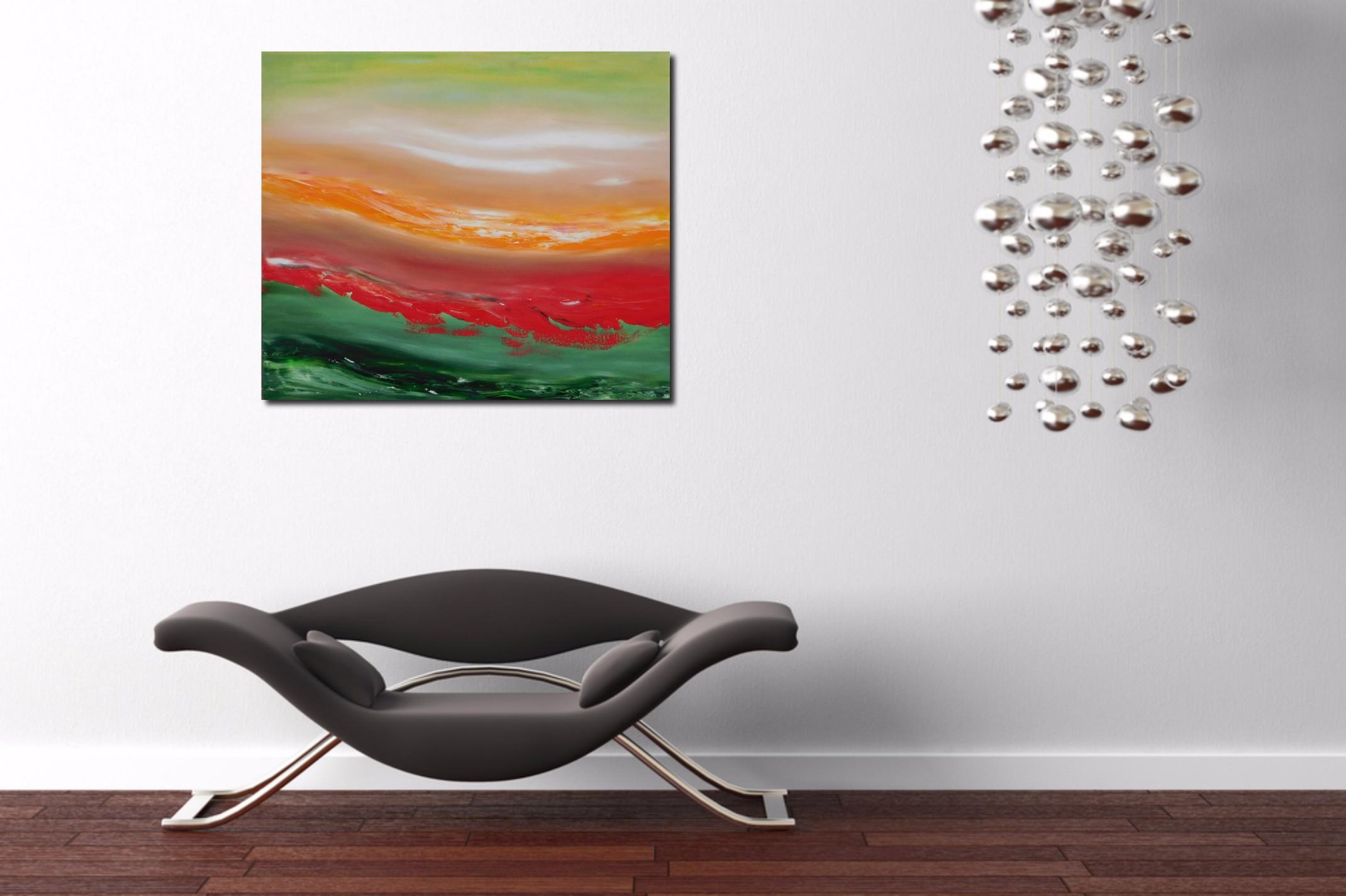 Red cut 70×60 2016 olio su tela quadro dipinto moderno originale astratto