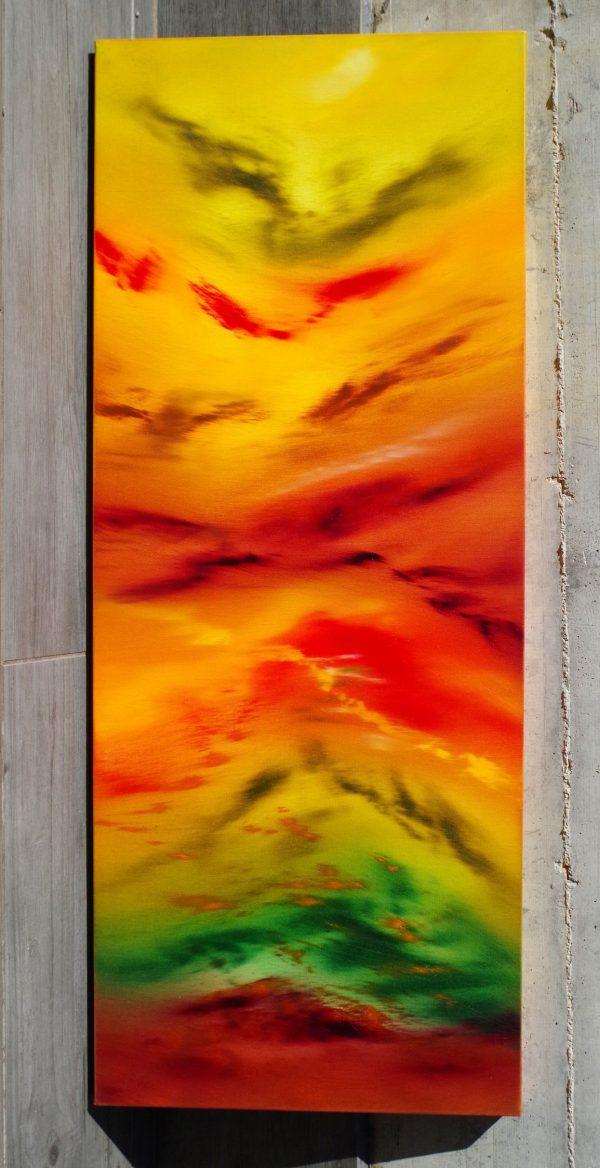 Autunm leaves I 100x40x4 quadro astratto in vendita online
