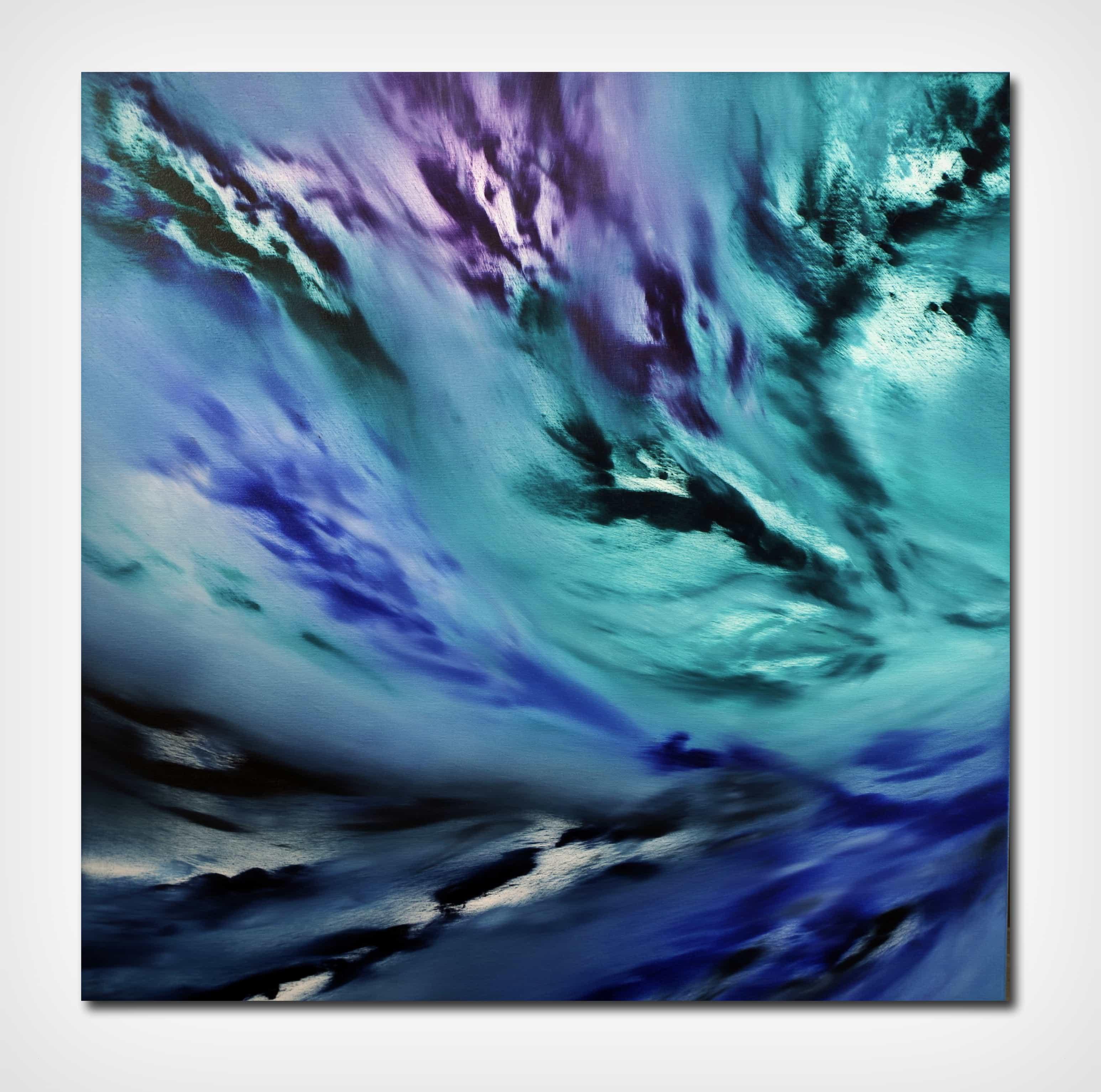 A light inside II 2017 80×80 olio quadro moderno astratto in vendita online