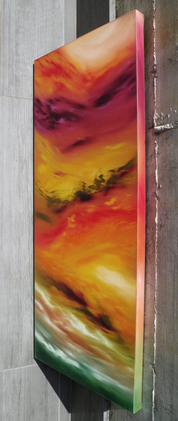 Autunm leaves II 100x40x4 quadro astratto in vendita online