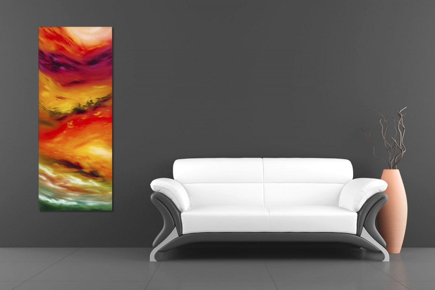 Autunm leaves II 100x40x4 quadro astratto in vendita online