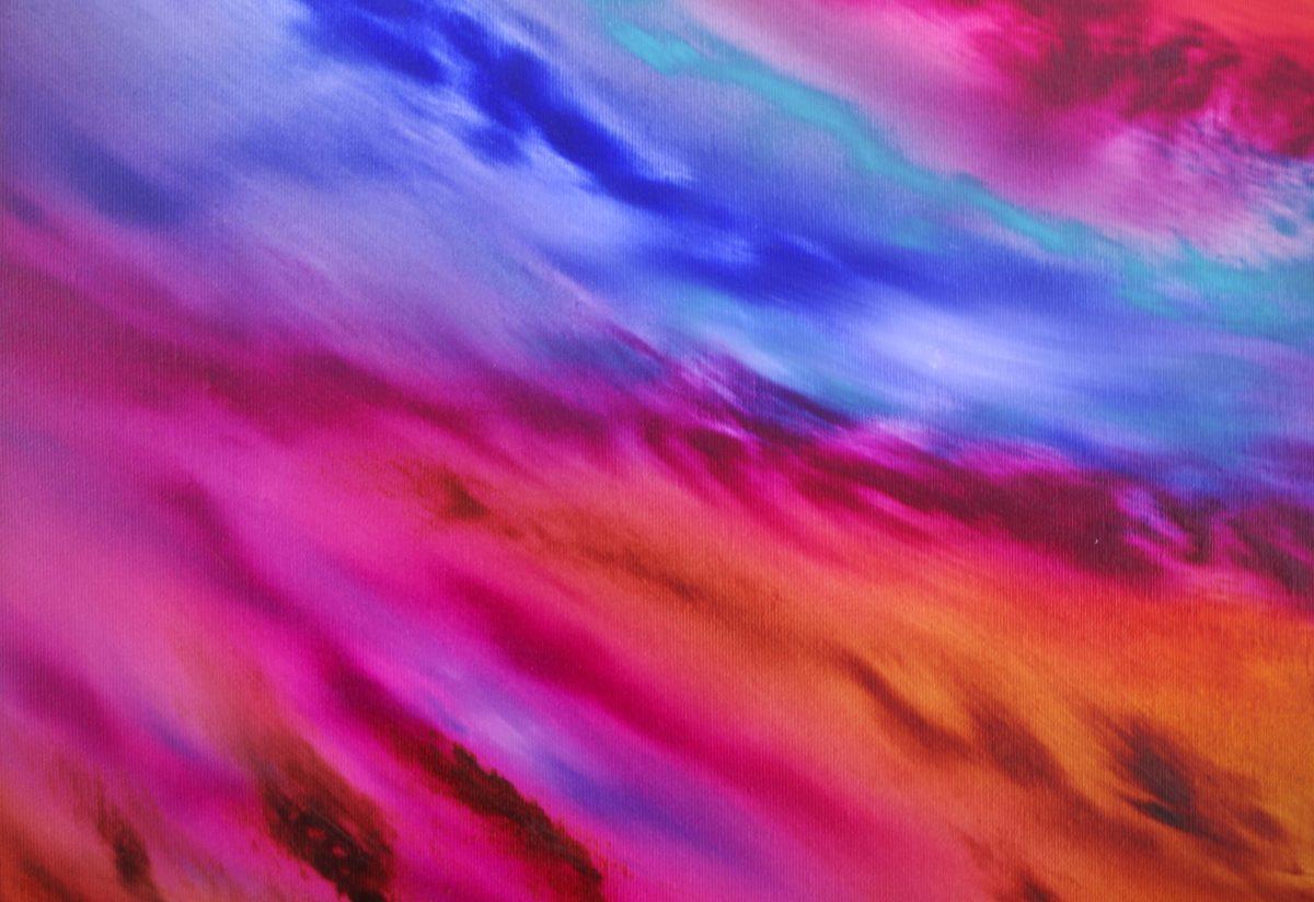 Le blè au vent 80x80 dipinto originale in vendita online