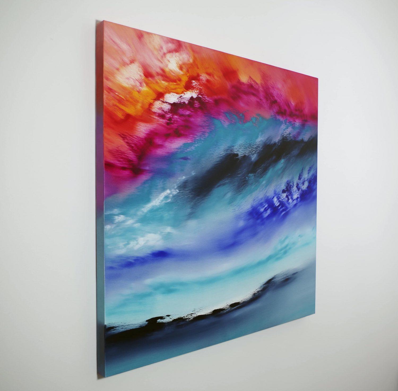 A light inside I 2017 80x80 olio quadro moderno astratto in vendita online