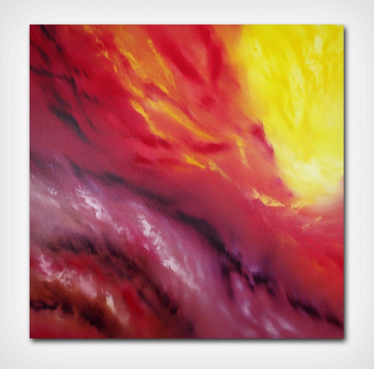 A light inside III 2018 80x80 olio quadro moderno astratto in vendita online