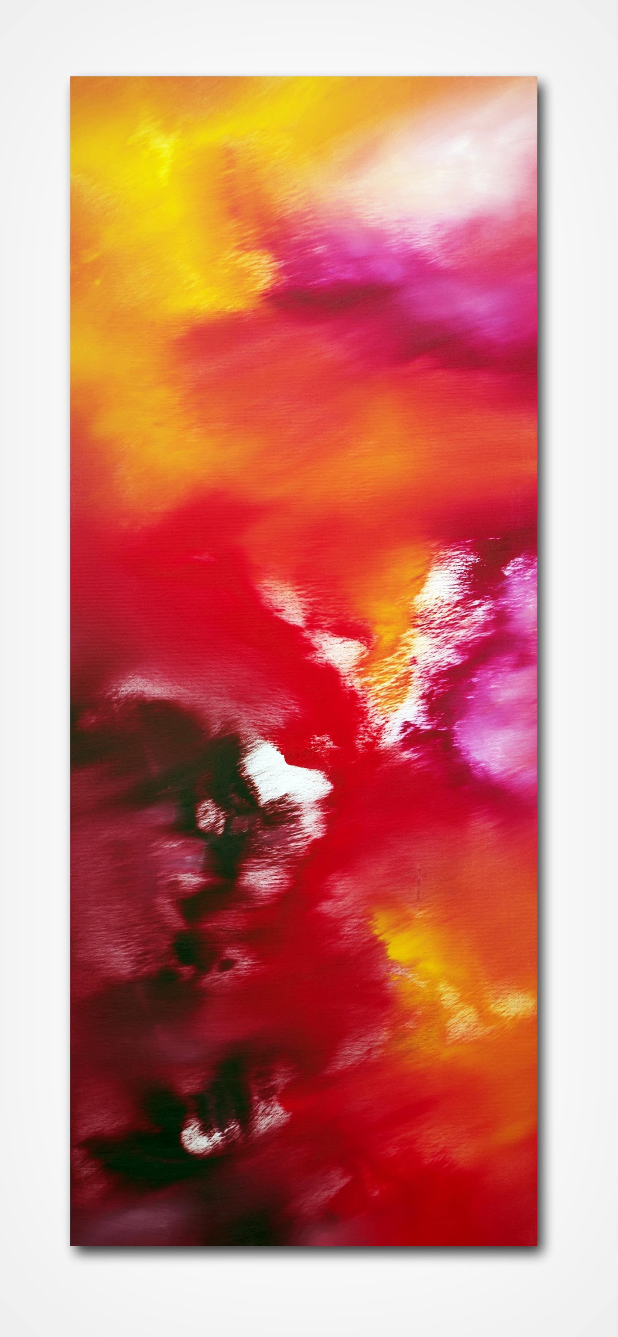 Le vie della seta 40×100 quadro astratto in vendita online