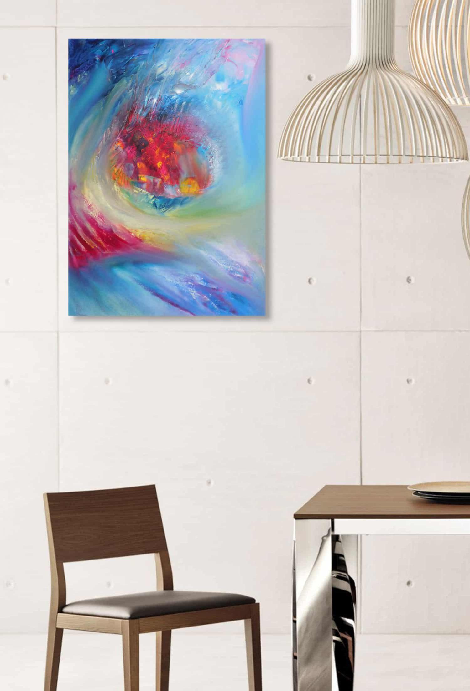 soft fancy 50x70 quadro dipinto astratto moderno