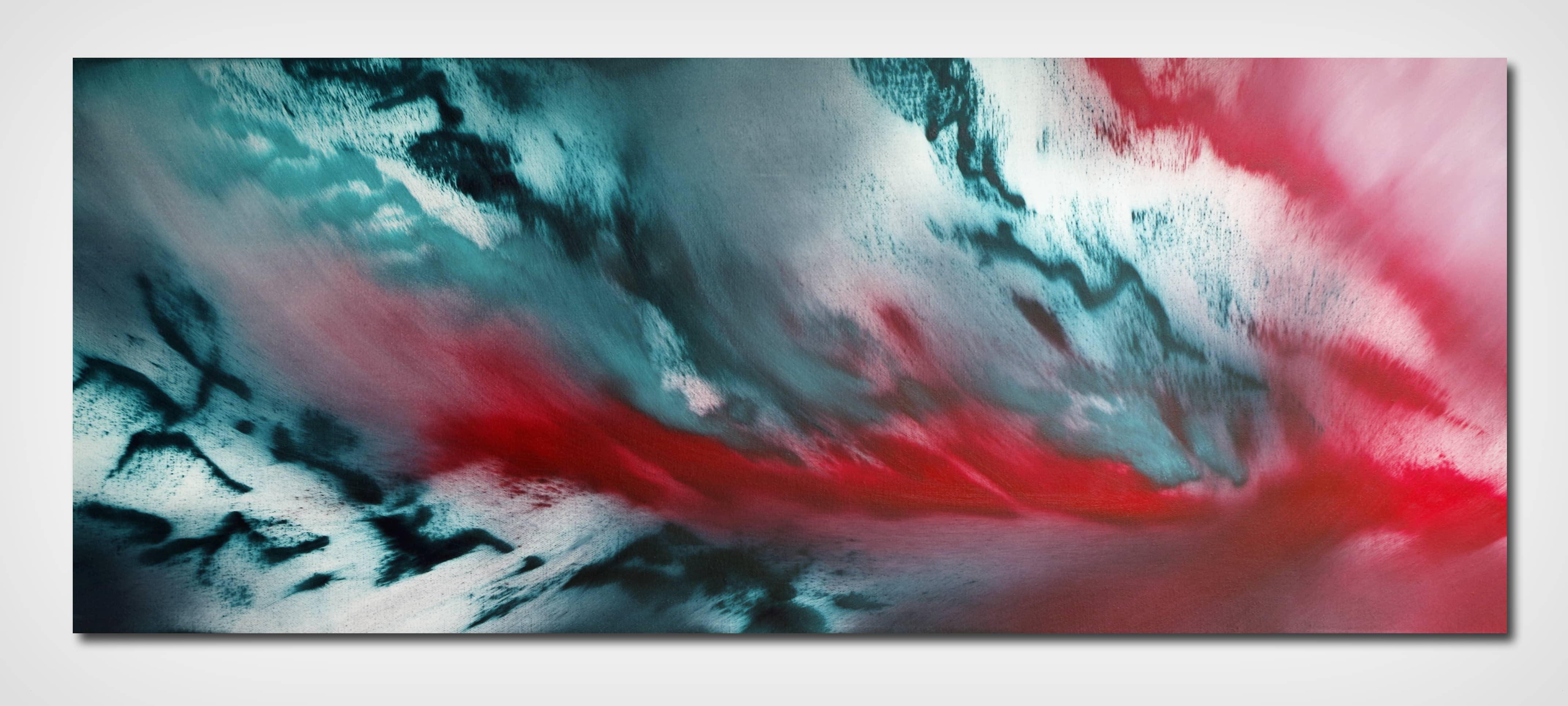 Last night 100×40 quadro astratto in vendita online