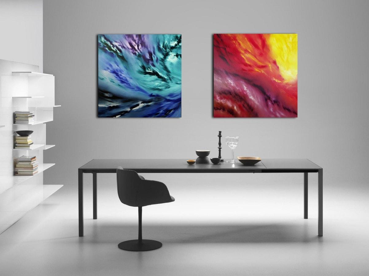 A light inside Diptych quadro astratto in vendita online