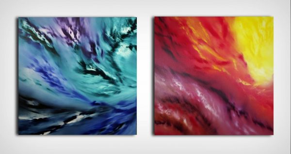 A light inside Diptych quadro astratto in vendita online