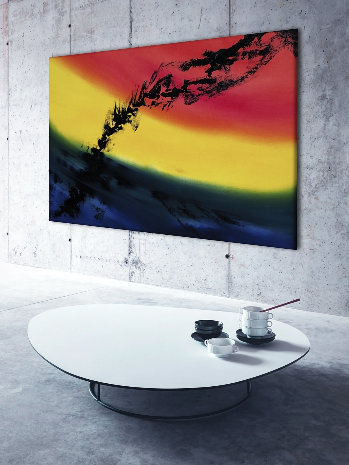 Skyline 100x70 quadro dipinto originale astratto in vendita online