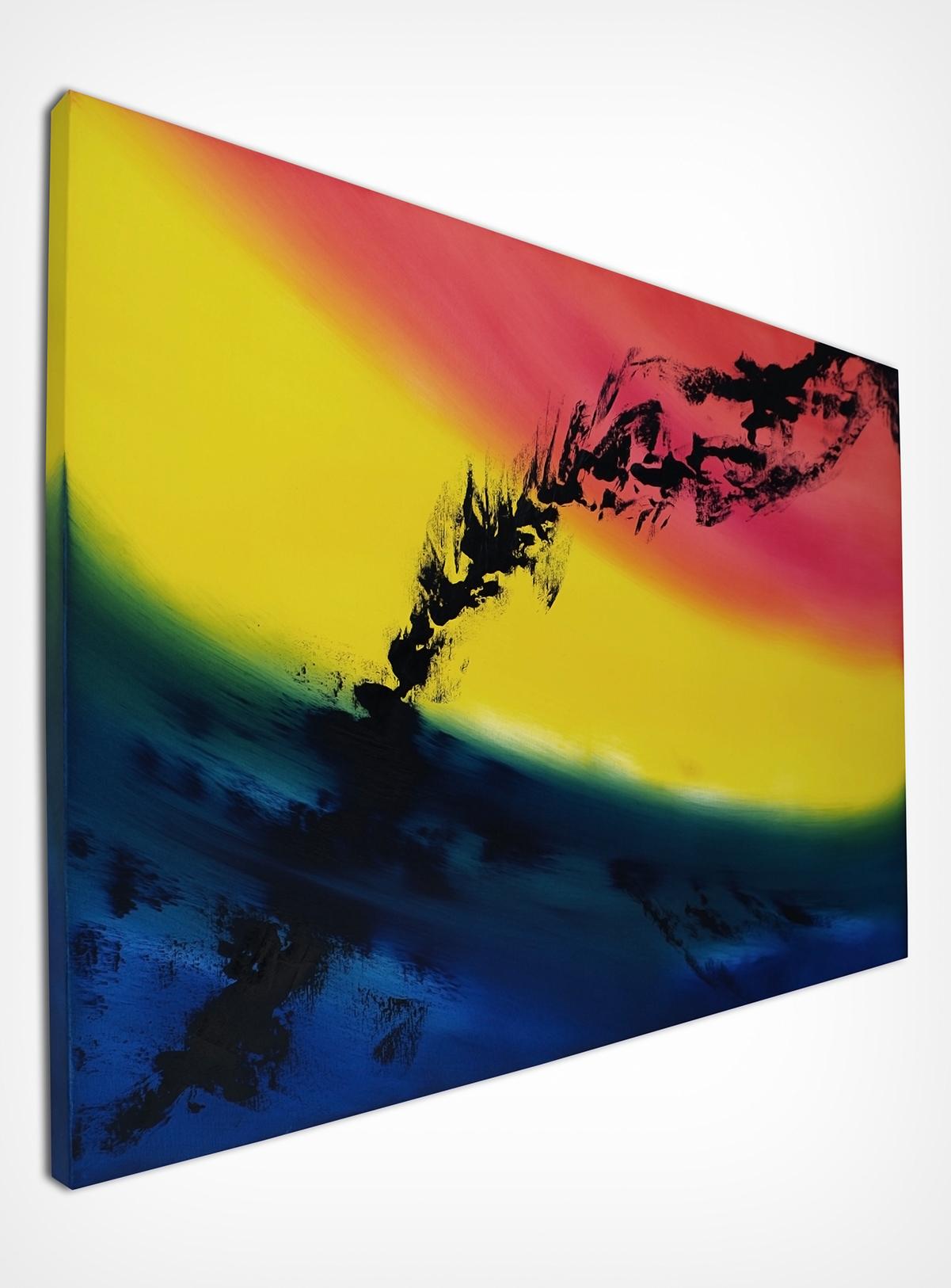 Skyline 100x70 quadro dipinto originale astratto in vendita online