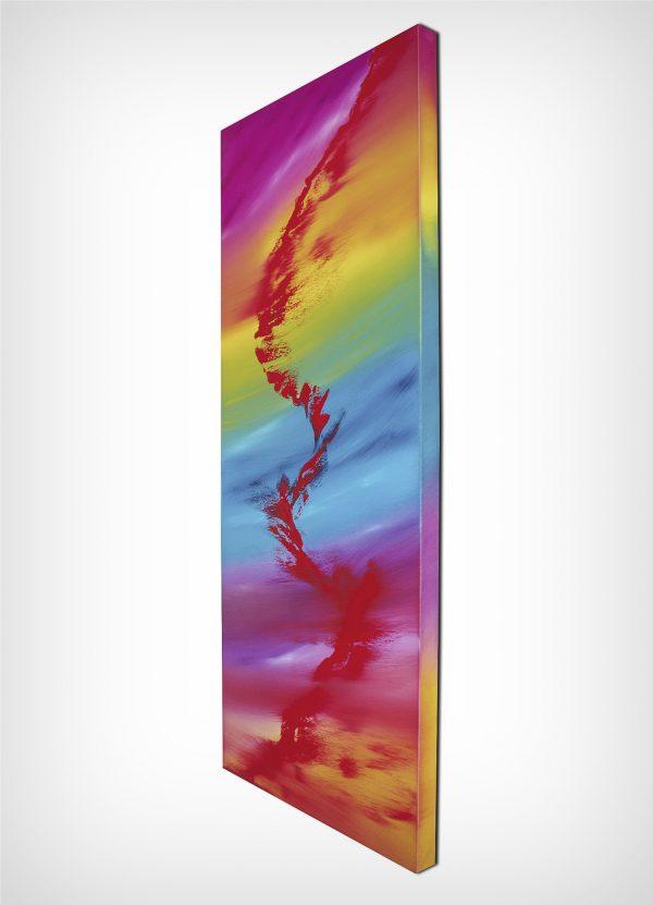 Rainbow rhapsody 40x100 quadro astratto in vendita online