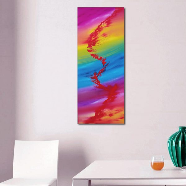 Rainbow rhapsody 40x100 quadro astratto in vendita online
