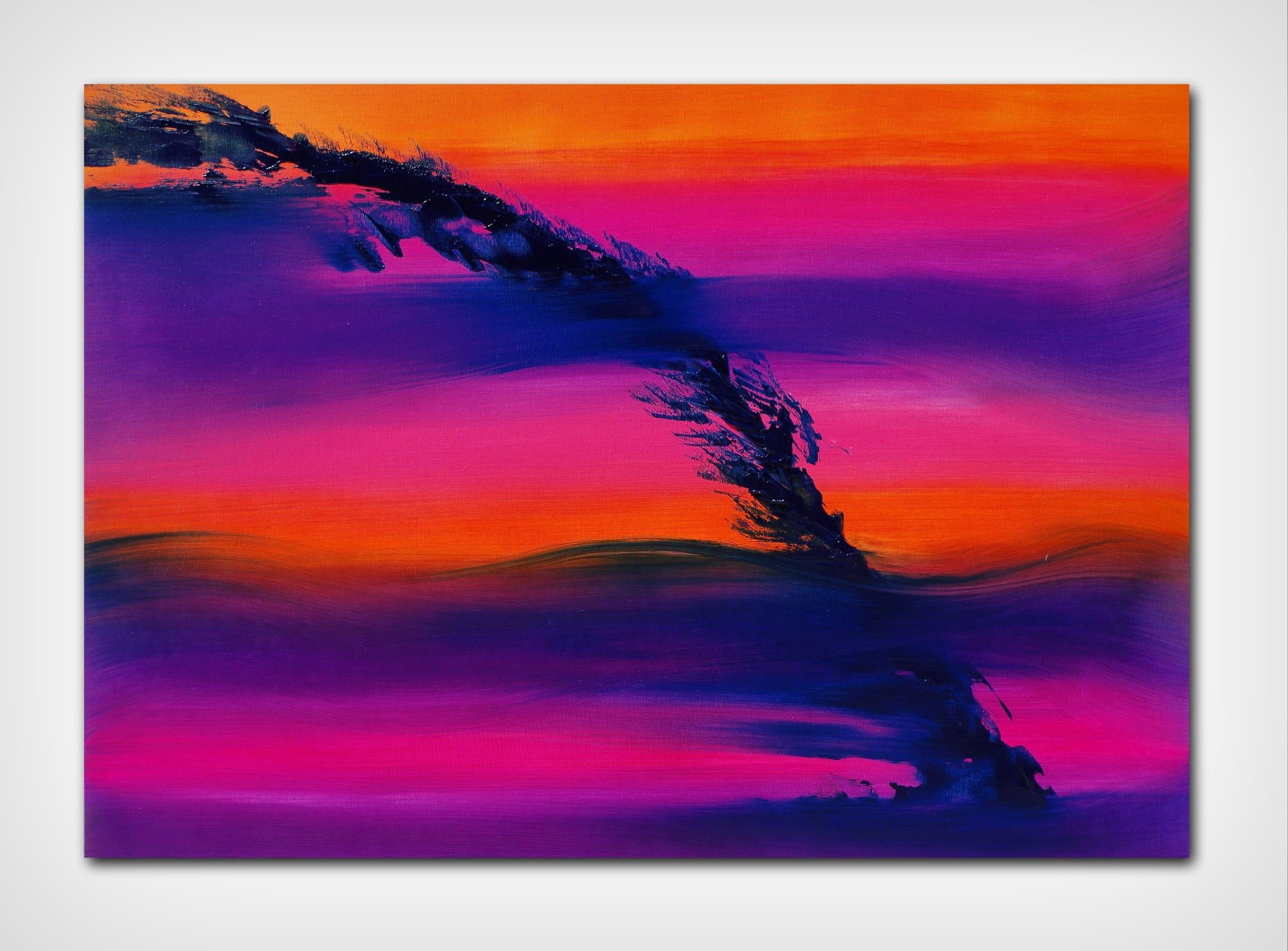 Skyline II 100×70 quadro dipinto originale astratto in vendita online