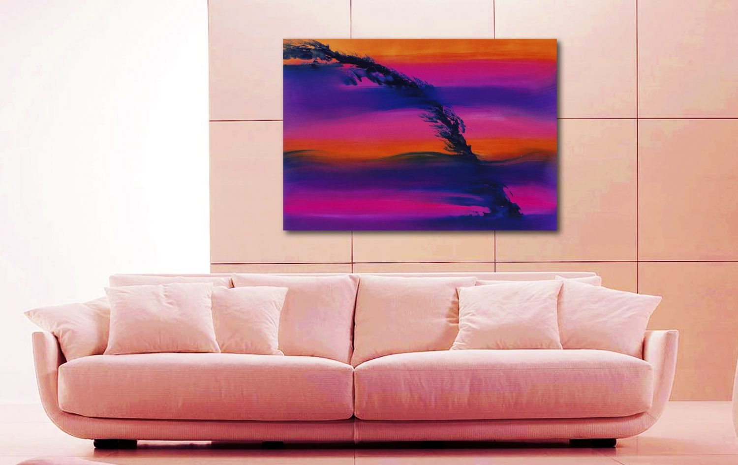 Skyline II 100x70 quadro dipinto originale astratto in vendita online