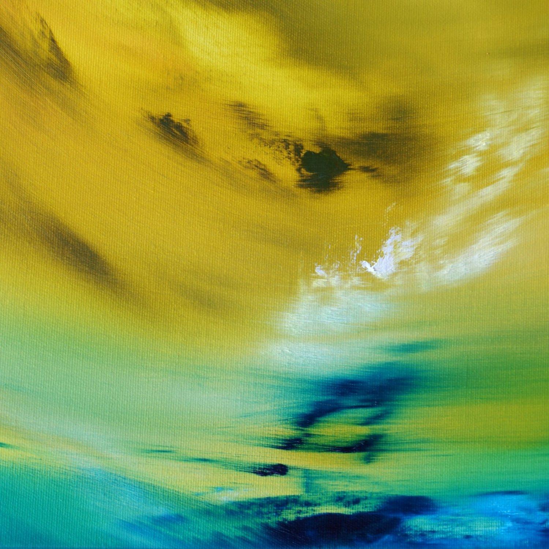 Yellow vision 100x40 2018 oil quadro astratto in vendita